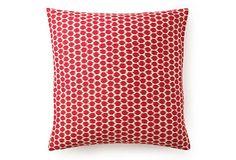 """Spot 20"""" x 20"""" Pillow, Fuchsia"""