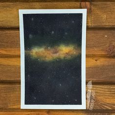 Check my boards for video process of my paintings. Watercolor Galaxy, Watercolors, Galaxies, Universe, Boards, Paintings, Photo And Video, Yellow, Check