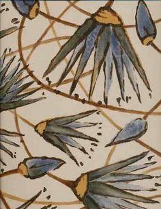 "Katie Leede's debut ""Ra""collection of hand block printed textiles ..."