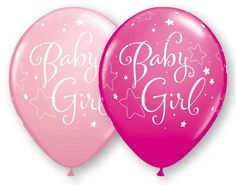 Baby Shower Balloons Baby Girl Balloons Pink by PartySurprise