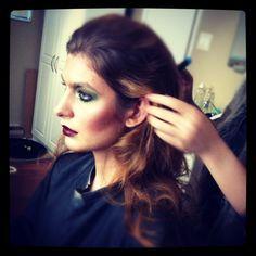 Photoshoot at VMMA Makeup Studio (model getting hair & makeup done before shoot starts) #makeup #makeupartist #fashion #photoshoot #model #hair