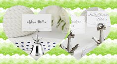 Anchor Placecard Holder Nautical Wedding Favors, Anchor, Place Cards, Place Card Holders, Anchor Bolt, Nautical Party Favors, Anchors