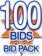 100 Bids bidPack - Zeekler