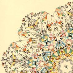 Carnaval rueda en París  Art Print abstracto por SarahGiannobile, $25.00