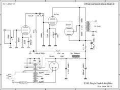 UL Single Ended Amplifier 2012 Dc Circuit, Circuit Diagram, Diy Electronics, Electronics Projects, Valve Amplifier, Radio Design, Audio, Vacuum Tube, Technology