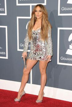 I can't stand J Lo, but this dress and those shoes are bad a$$