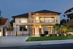 Custom built homes arquitectura casas, casas con tejas и cas Custom Built Homes, Custom Home Builders, Dream Home Design, Modern House Design, Style At Home, Luxury Modern Homes, Storey Homes, Dream House Exterior, Facade House
