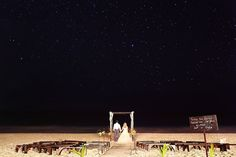 Kristen + David and the great beyond at a Tulum Destination Wedding at Akiin Beach Club. Beautiful star-filled sky, the beach, the waves and a couple in love, doesn't get much better! Are you up for a destination wedding? Riviera Maya photographers Del Sol Photography