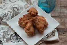 Alitas de pollo fritas adobadas
