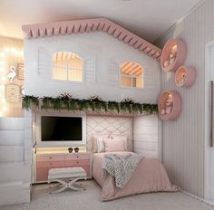 new Ideas for baby girl bedroom themes bunk bed Kids Bedroom Designs, Room Design Bedroom, Room Ideas Bedroom, Kids Room Design, Bedroom Themes, Kids Bedroom Furniture, Bed Room, Bed For Girls Room, Big Girl Rooms