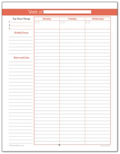Weekly Hourly Planner Printables   Pinteres