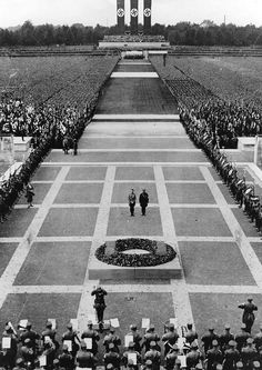 Adolf Hitler and Ernst Roehm during a mass rally of the SA and SS in commemoration of those who fell for the Nazi movement - 03.09.1933