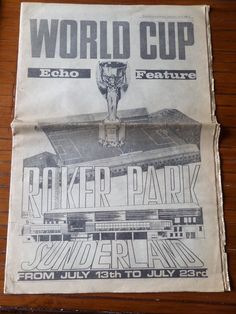 "Sunderland Echo ""World Cup, Echo Feature, Roker Park Sunderland"" July 13th 1966○"
