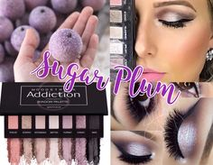 Younique's purple eye shadow eyeshadow. Sugar Plum look. Younique Addiction Palette 3, Younique Eyeshadow Palette, Cruel To Be Kind, Beauty Bar, Eye Shadow, Makeup Ideas, Plum, Eye Makeup, Make Up