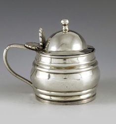 John Coakley of Liverpool, Chester a George IV Provincial silver mustard pot, ogee moulded The Saleroom, Art Auction, Chester, Soft Furnishings, Liverpool, Art Decor, Mustard, English, Tableware