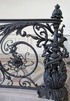 Halloween Style!! Cast Iron Balustrade and railing! Look at the details! Exquisite!
