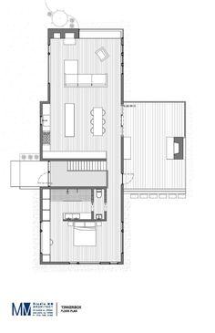 Custom Charred Cedar Exterior Cloaks a Car-Lover's Dream Retreat Upstate New York, Residential Architecture, Floor Plans, Cabin, Garage, Flooring, Studio, How To Plan, Doors