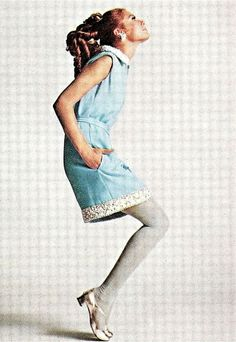 Model is wearing a creation of Malcolm Starr. Harper's Bazaar,December 1967.