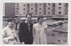 Romania - Bucuresti - Hotel Athene Palace - Old time car - Moskvich - 1962 - foto 135x80mm. delcampe 320138967.