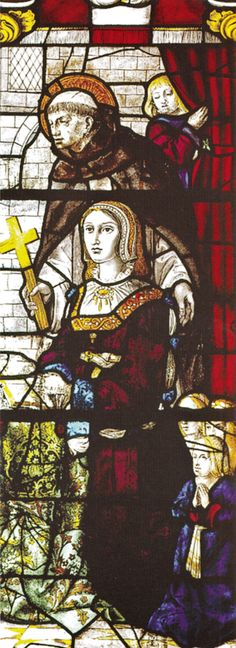 Santa Maria, Queen Of England, Aragon, Stained Glass Windows, 16th Century, Portuguese, Portugal, Anime, Painting
