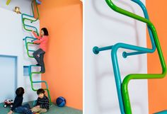 Colorful, Modern Interior Ladders for Kids by Alegre Industrial Studio for Katzden Architec LTD