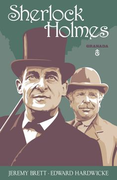 "Jeremy Brett and Edward Hardwicke in the Granada television series ""Sherlock Holmes"""