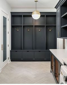 smart mudroom ideas to improve your homeMUDROOM IDEAS - The mudroom is a very important part of your home. With Mudroom you can keep your entire home clean and tidy. Mud room or you Mudroom Cabinets, Mudroom Laundry Room, Laundry Room Design, Mud Room Lockers, Built In Lockers, Mudroom Cubbies, Mudrooms With Laundry, Mud Room Garage, Laundry Cabinets