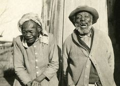 Old sharecroppers couple, Oklahoma, 1914.  It seems the simplest of times brings the greatest joy and love.