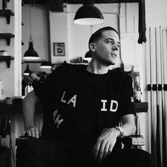 G_eazy rocking I Love Ugly, inside Westons Barbers, captured by our homie Ta-ku beats G Eazy Style, Brylcreem, I Love Ugly, Baby G, American Rappers, Hip Hop Rap, Celebs, Celebrities, Man Crush