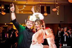 Bride and Groom celebrate during new year's eve wedding #weddingphotography / just added