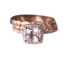 Rlovehome 3PCS Princess Cut 6.5mm 1.1ct Light Pink Natural VS Morganite Diamonds Engagement Ring Set Wedding Ring Set Anniversary Ring Set in Solid 14k Rose Gold (J) Rlovehome http://www.amazon.co.uk/dp/B01AXFHBF8/ref=cm_sw_r_pi_dp_B747wb1NDQRJV