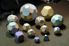 Printable Platonic Solids and Archimedean Polyhedra