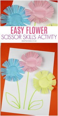 Easy Flower Scissor Skills Activityscissor skills preschool flowers easy 40 Pretty Paper Flower Crafts, Tutorials & Ideas What could be more lovely. Kids Crafts, Spring Crafts For Kids, Summer Crafts, Toddler Crafts, Diy And Crafts, Art For Kids, Arts And Crafts, Simple Crafts, Spring Crafts For Preschoolers