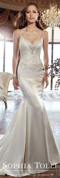 The Sophia Tolli Fall 2015 Wedding Dress Collection - Style No. Y21510 sophiatolli.com #laceweddingdress