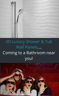 3D textured shower or tub wall panels can really make a unique bathroom. Click through to learn more.