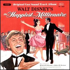 """""""The Happiest Millionaire"""" (1967, Buena Vista).  Music from the movie soundtrack."""