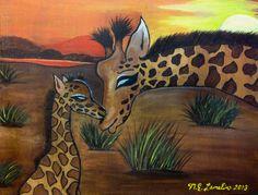 Giraffe Family Love!
