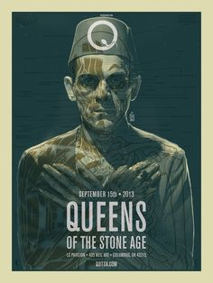 Queens of the Stone Age gig poster by Brian Ewing