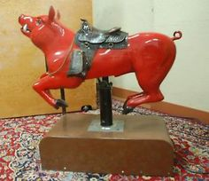Working Coin Operated Kiddie Pig Ride - pretty sure I need this!