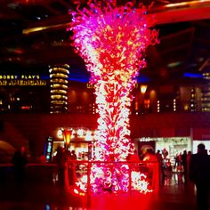 """Courtesy of Rossitto who calls it """"Tree of Fire"""" --- looks like it here! River Blue, Colored Glass, Bucket, Fire, Candles, Sculpture, Coloured Glass, Candy, Sculptures"""