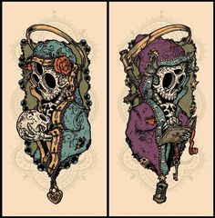 I can't wait to get one of these 8-color skeleton prints by Jeral Tidwell!  He's pulling the prints now, so I'll post when they are available.