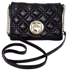 6c098a360bb5 Kate Spade Astor Court Naomi Black Gold Tone Leather Cross Body Bag 57% off  retail