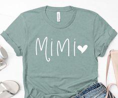 Mimi Shirt Mimi Gift Grandma Shirt Christmas Gift for Mimi Couple Shirts, Dad To Be Shirts, Baby Shirts, Onesies, Grandma Gifts, Gifts For Dad, 21st Birthday Shirts, Birthday Outfits, Birthday Dresses