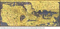 EL İDRİSİ'nin avrupa haritası Idrisi à la suite des géographes