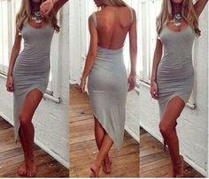Sexy Strandkleid Damen Cotton Sommerkleid Unregelmäßige Halfter Mini Kleid