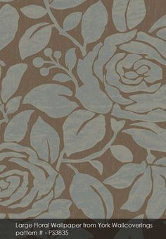 Large Floral wallpaper from York Wallcoverings