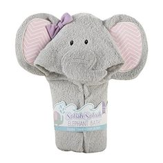 "Baby Aspen ""Splish Splash"" Elephant Hooded Towel"