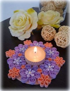 quilling cr er des d cors en papier roul quilling and decor. Black Bedroom Furniture Sets. Home Design Ideas
