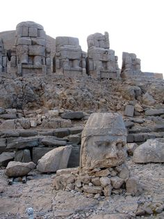 Nemrut or Nemrud is a 2,134 m high mountain in southeastern Turkey, notable for the summit where a number of large statues are erected around what is assumed to be a royal tomb from the 1st century BC. Wikipedia
