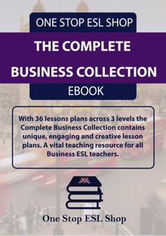The Business Collection.  This is the collection of our three Business English course books all in one package at a hugely discounted price. With lesson plans on presentations, sales, meetings, telephone and emails and many more this is everything you need to teach Business English to foreign students.